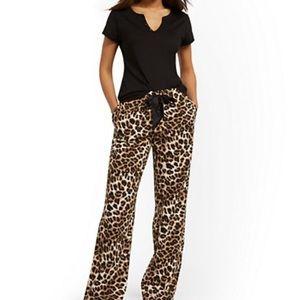 NWT NY & Company Black Pajama Set